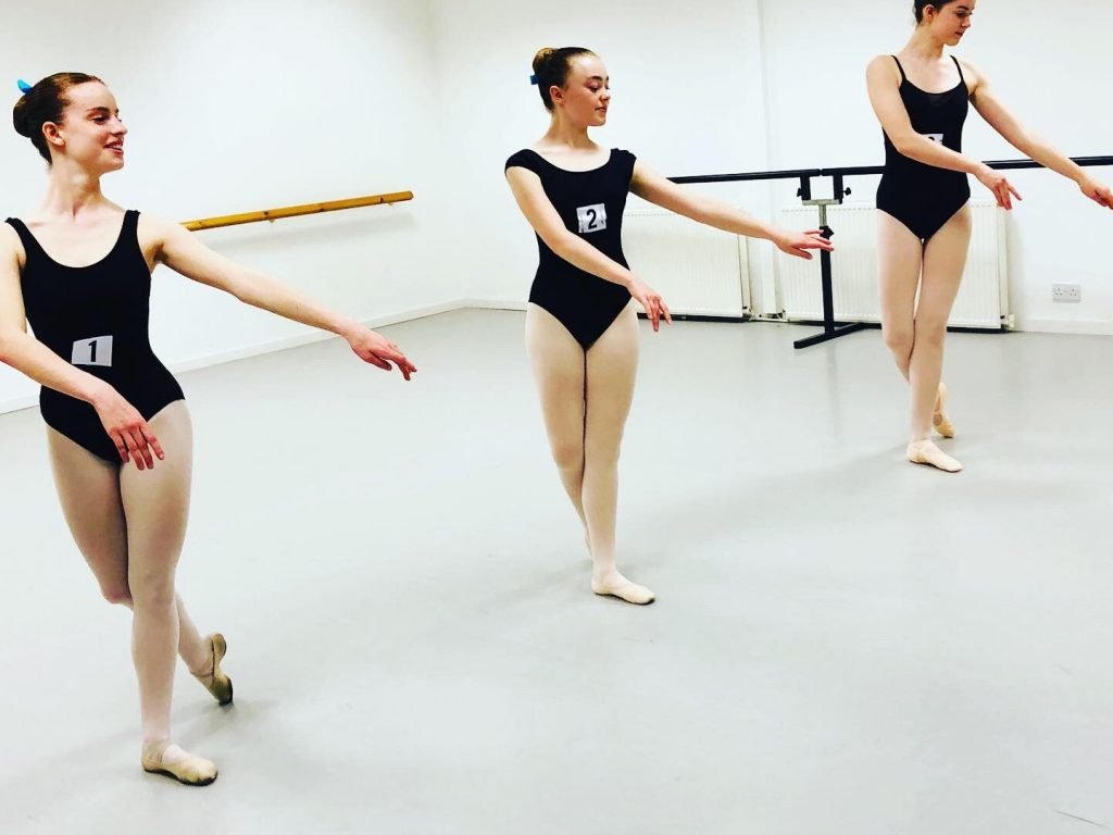 Grades 6-8 ballet uniform for First Steps Academy of Dance