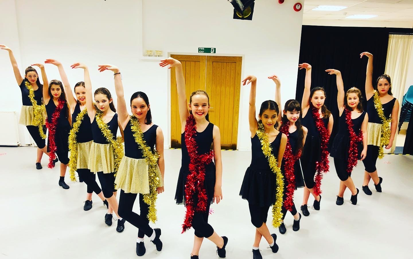 Christmas Show, Jazz Intermediate Class. Black & Gold